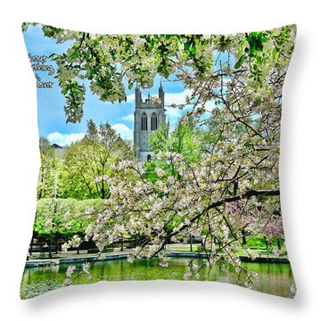 Inspirational - Cherry Blossoms Throw Pillow