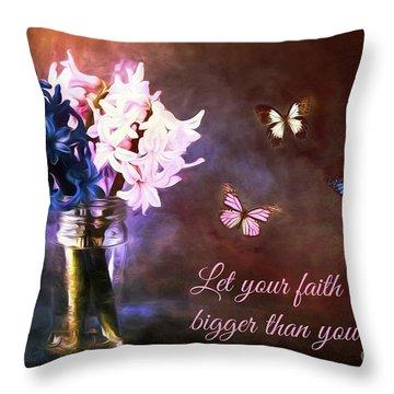 Inspirational Flower Art Throw Pillow by Tina LeCour