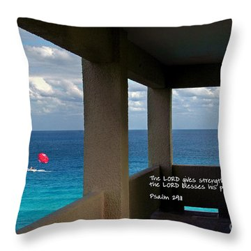Inspirational - Picture Windows Throw Pillow