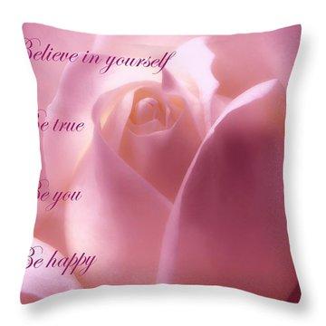 Inspirational Rose Throw Pillow