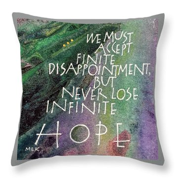 Inspirational Saying Hope Throw Pillow