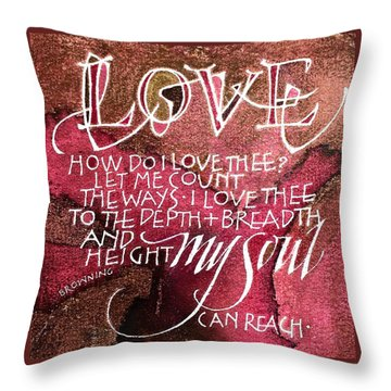 Inspirational Saying Love Throw Pillow