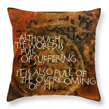 Inspirational Saying Overcome Throw Pillow