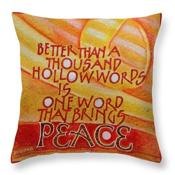 Inspirational Saying Peace Throw Pillow