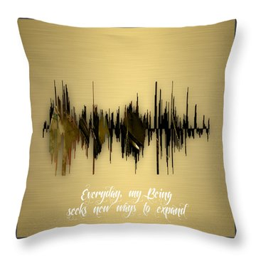 Inspirational Soundwave Message Throw Pillow by Marvin Blaine