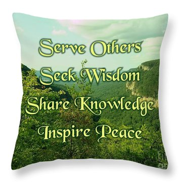 Inspire Peace Throw Pillow