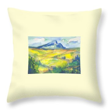 Inspired By Cezanne Throw Pillow by Connie Schaertl