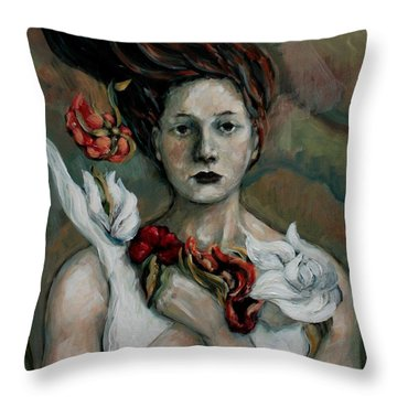 Inspired Throw Pillow by Carrie Joy Byrnes