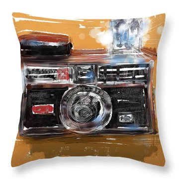 Instamatic Throw Pillow