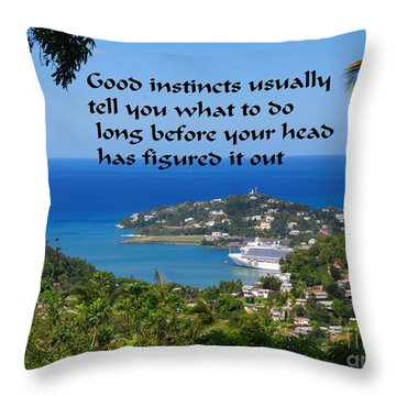Instincts Throw Pillow by Gary Wonning