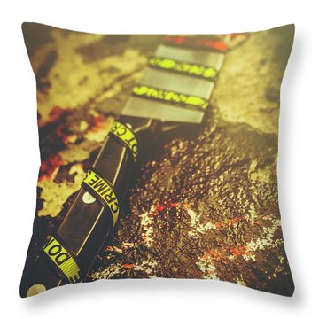 Instrument Of Crime Throw Pillow