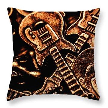 Instrumental Abstract Throw Pillow