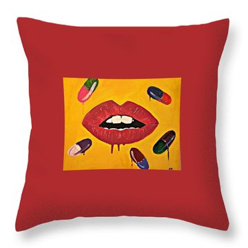 Intake Creativity  Throw Pillow by Miriam Moran