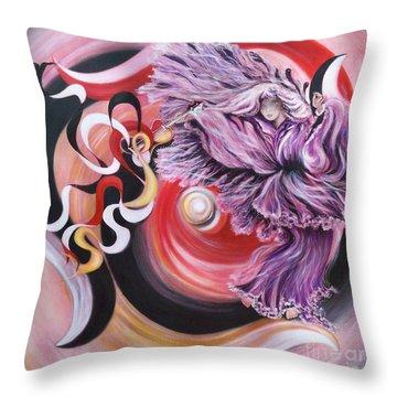Gentle Spirit  Integrated Force Throw Pillow