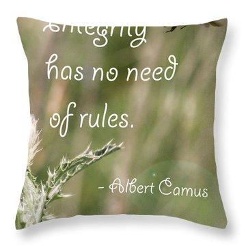 Integrity Throw Pillow