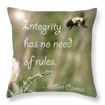 Integrity Throw Pillow