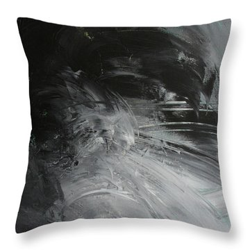 Throw Pillow featuring the painting Intelligent Answers by Robin Maria Pedrero
