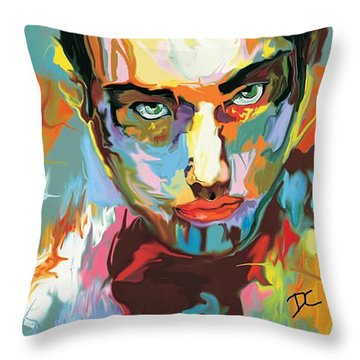 Intense Face 2 Throw Pillow