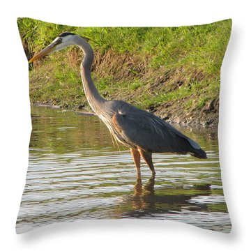 Intense Fishing Throw Pillow