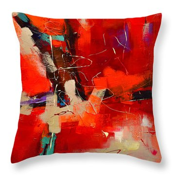 Intensity - Art By Elise Palmigiani Throw Pillow by Elise Palmigiani