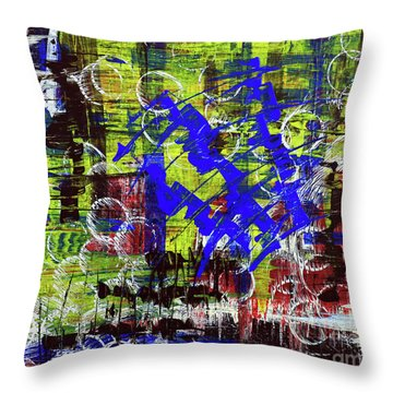 Intensity Throw Pillow by Cathy Beharriell