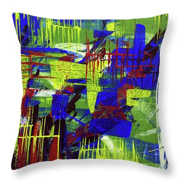 Intensity II Throw Pillow by Cathy Beharriell