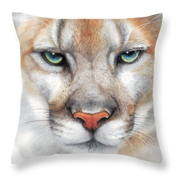 Intensity - Mountain Lion - Puma Throw Pillow