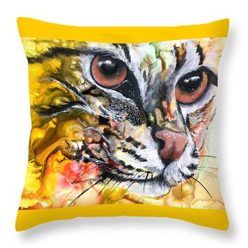 Throw Pillow featuring the painting Intensity by Sherry Shipley