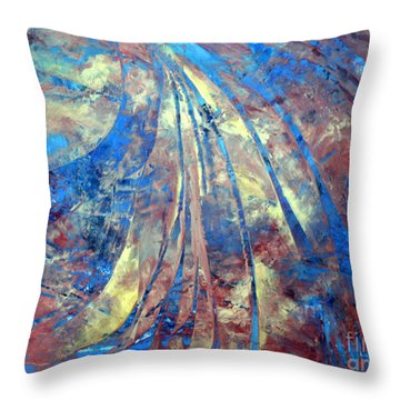 Intensity Throw Pillow by Valerie Travers