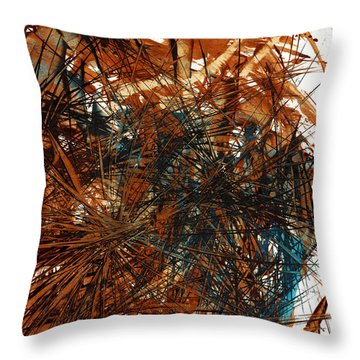 Intensive Abstract Expressionism Series 46.0710 Throw Pillow