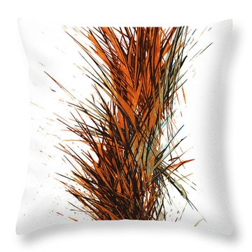Throw Pillow featuring the painting Intensive Abstract Painting 1030.050512 by Kris Haas