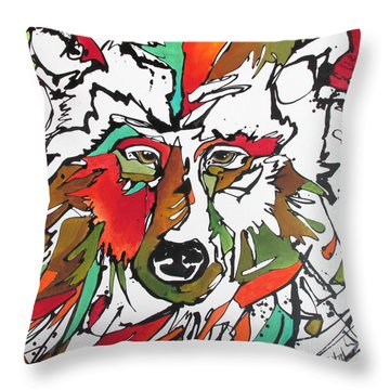 Throw Pillow featuring the painting Intent by Nicole Gaitan