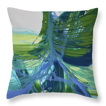 Throw Pillow featuring the painting Intercession by Kate Word