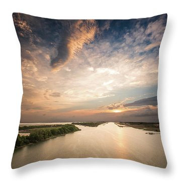 Intercoastal Sky Throw Pillow