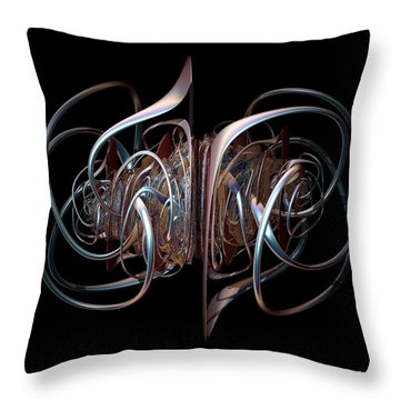 Interconnected Throw Pillow by Julie Grace