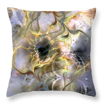 Interconnectedness Of Life Throw Pillow by Casey Kotas
