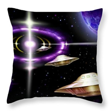 Interdimensional  Gate-way Throw Pillow