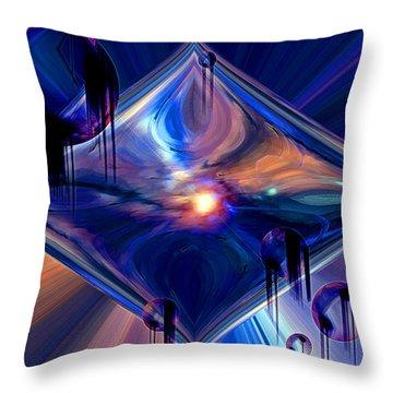 Throw Pillow featuring the digital art Interdimensional Portal by Linda Sannuti