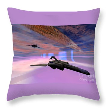 Interfold Layer Throw Pillow by Corey Ford