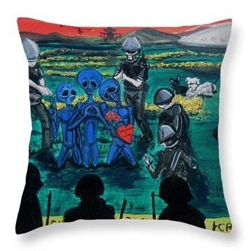 Intergalactic Misunderstanding Throw Pillow