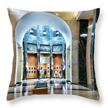 Interior Baseball Hall Of Fame Cooperstown Ny  Throw Pillow
