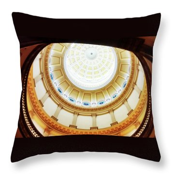 Throw Pillow featuring the photograph Interior Denver Capitol by Marilyn Hunt