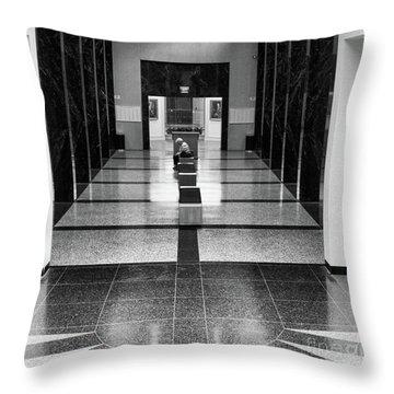 Interior Baseball Hall Of Fame Black White  Throw Pillow