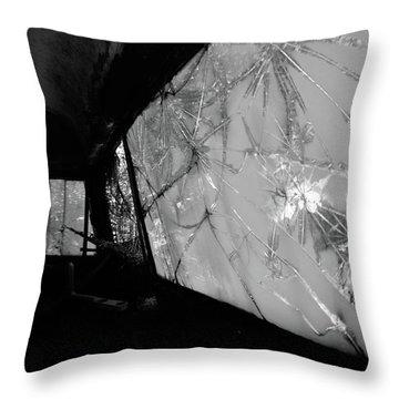Interior In Gray Throw Pillow