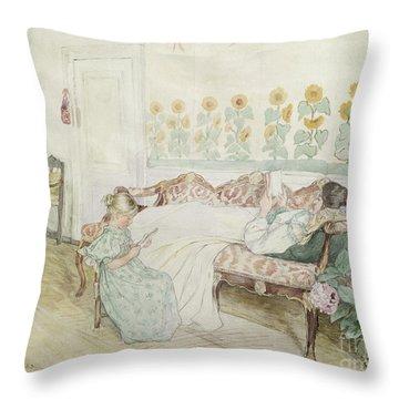 Interior Throw Pillow by Peder Severin Kroyer