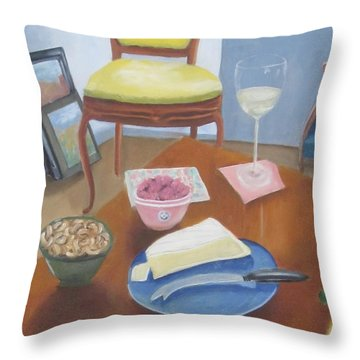 Throw Pillow featuring the painting Afternoon With Kenny by Patricia Cleasby