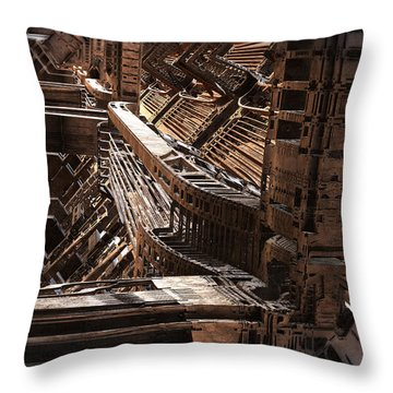 Interior Support Structure Throw Pillow