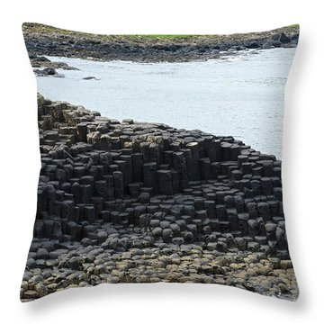Interlocking Basalt Columns Throw Pillow