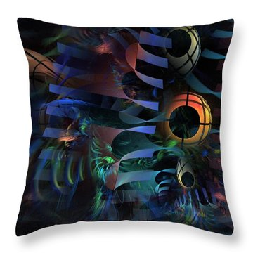 Throw Pillow featuring the digital art Interlude 1536 - Fractal Art by NirvanaBlues