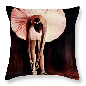 Interlude Throw Pillow by Elizabeth Robinette Tyndall